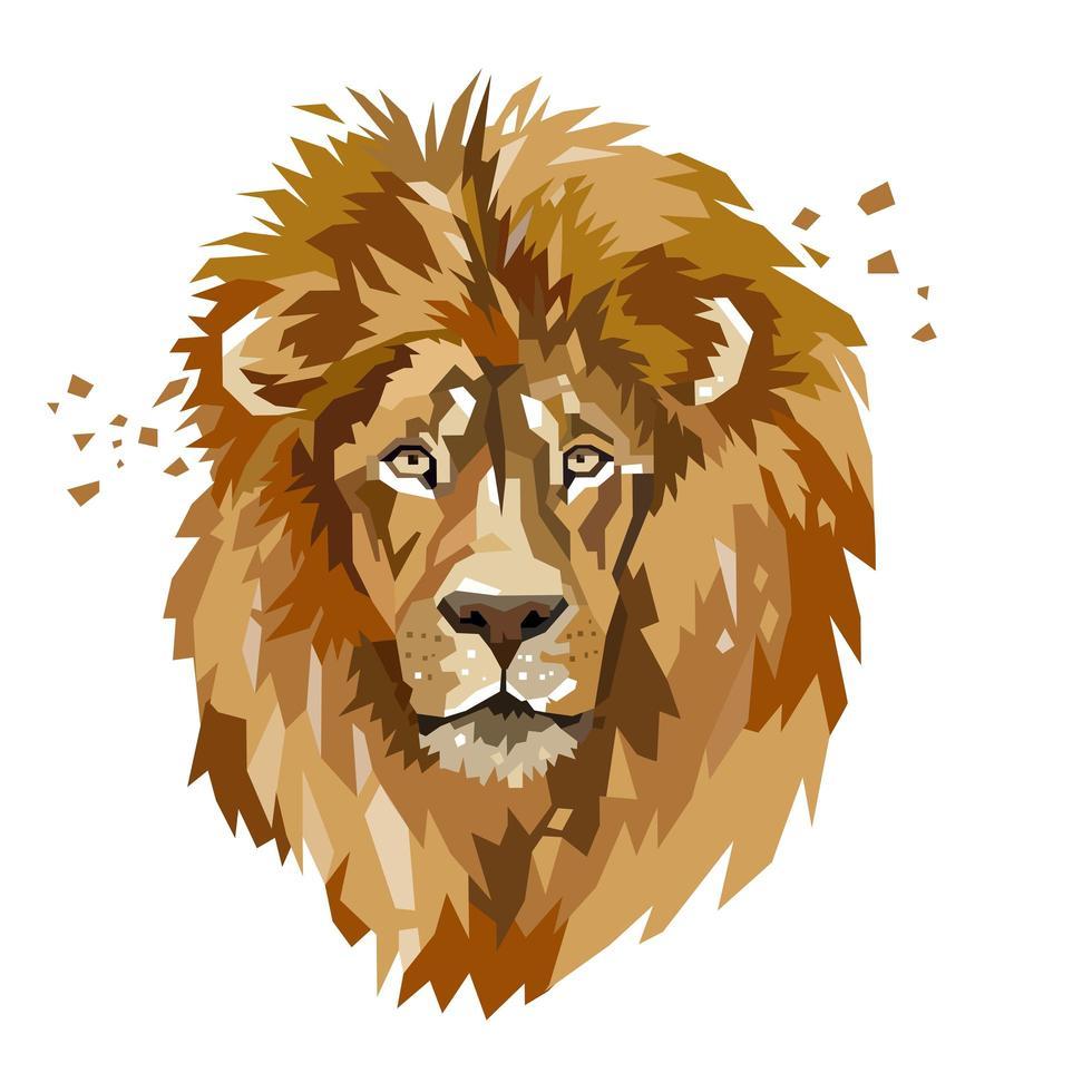 logo animal tête de lion vecteur