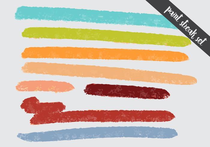 Set d'ensemble coloré de Paint Streak vecteur