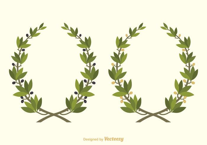 Couronne d'olive libre de vecteur
