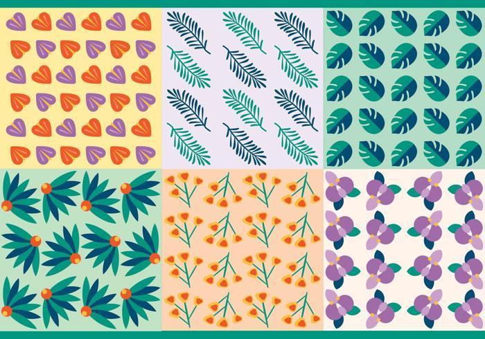 Patrons vectoriels libres de feuilles tropicales vecteur