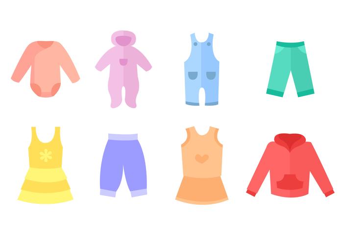 Vecteur de vêtement de bébé gratuit