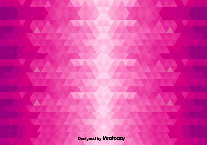 Fond abstrait avec des triangles roses vecteur
