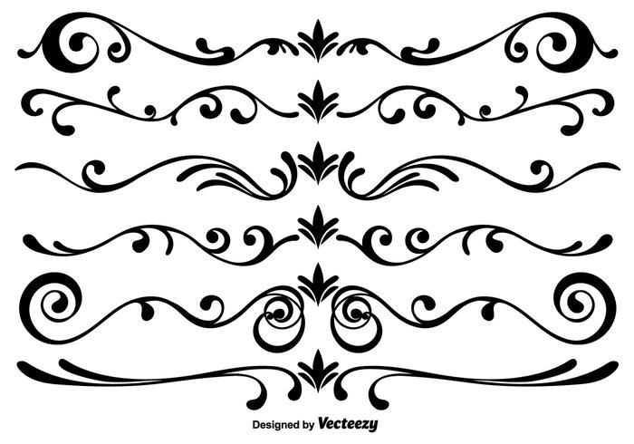 Éléments scrollwork vector