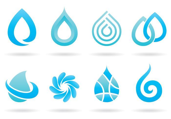 Logos aquatiques vecteur