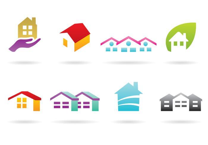 Logo de la maison et du toit vecteur