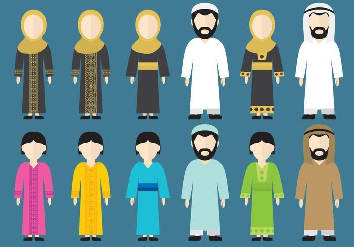 Vêtements du Moyen-Orient vecteur