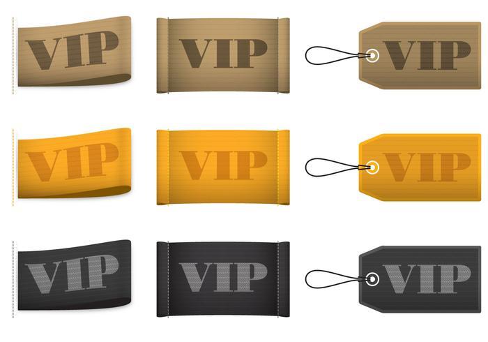 Vecteurs d'étiquettes VIP vecteur