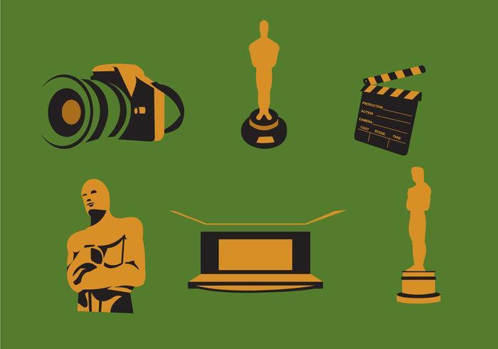 Vecteur de prix de film et d'Oscar
