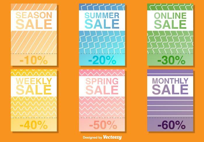 Modèles de vecteur d'affiche de vente saisonnière