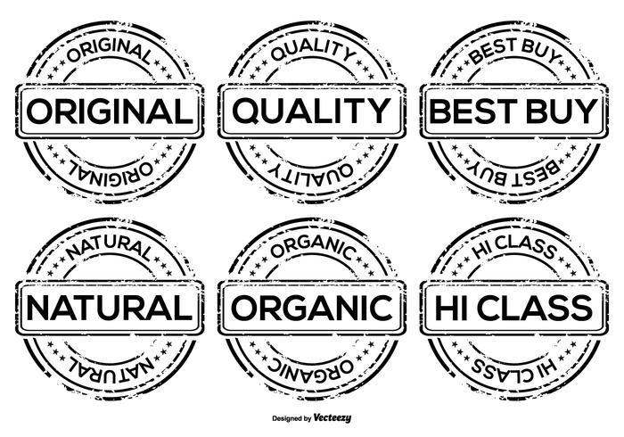 Badges publicitaires promotionnels pour le grunge vecteur