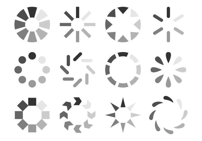 Vecteur icône preloader