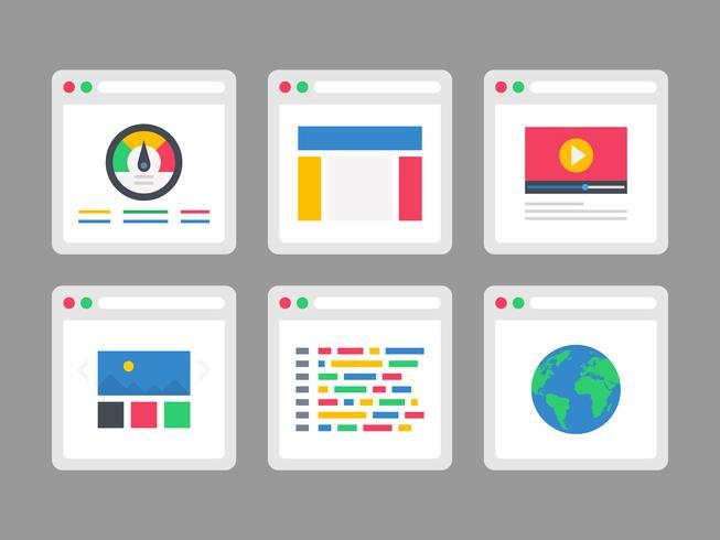 Icônes vectorielles gratuites du navigateur Web vecteur