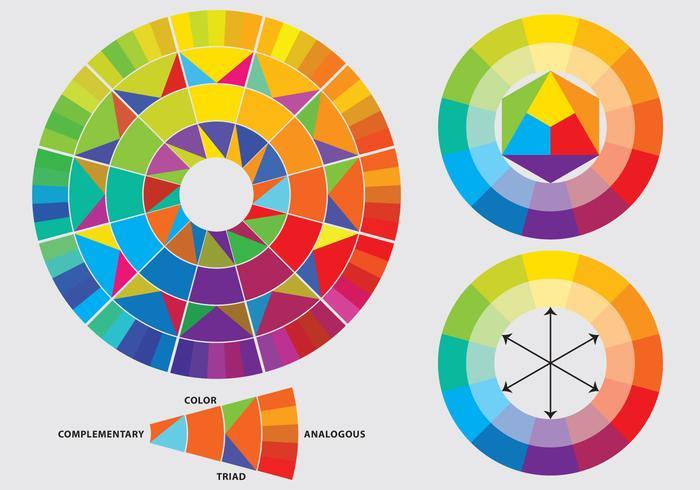 Roues de couleur vecteur