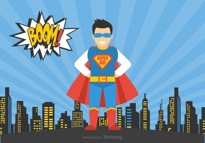 Vector Free Superhero Kid