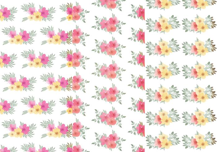 Ensemble de motifs floraux floraux vecteur