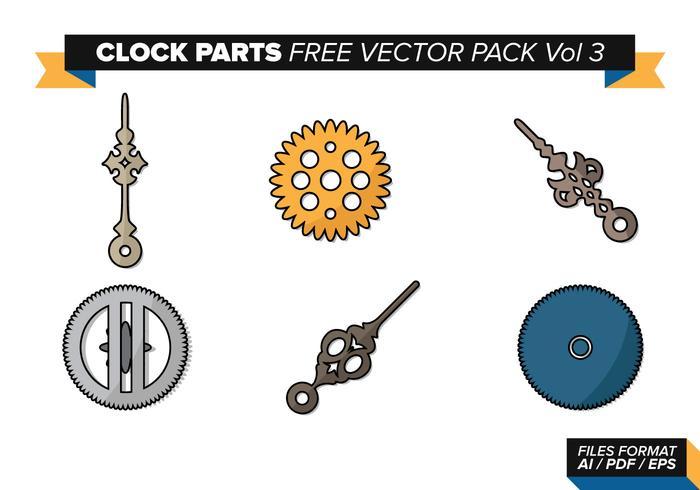 Pièces d'horloge Free Vector Pack Vol. 3