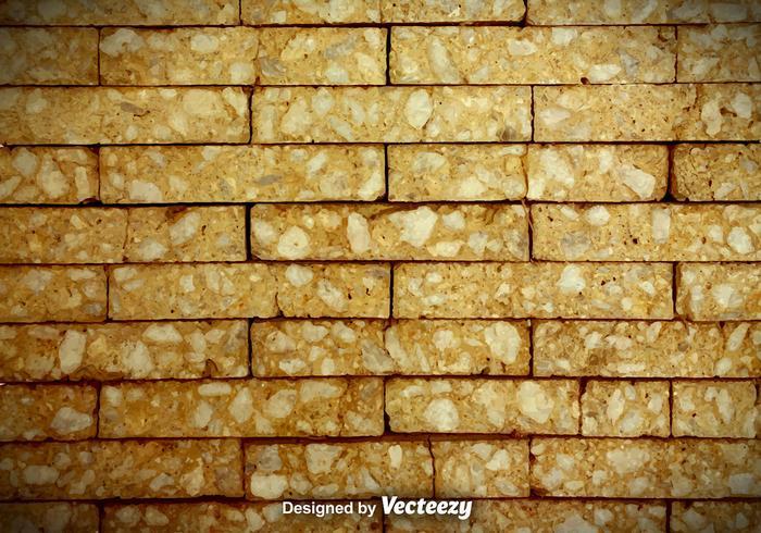 Fond de vecteur de mur de brique fissuré