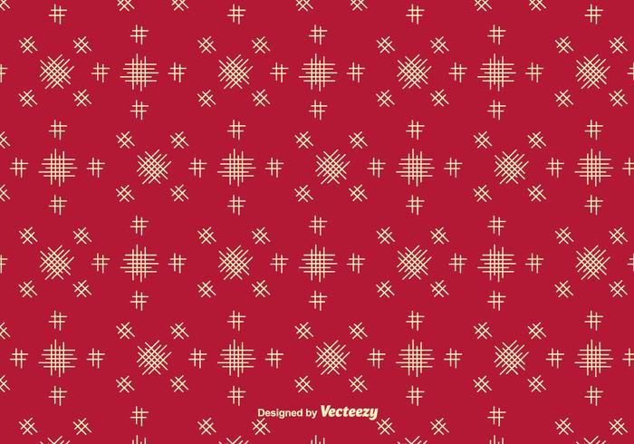 Fond rouge vectoriel avec des éléments simples de Crosshatch