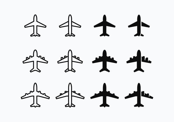 Vector Avion Silhouette gratuit