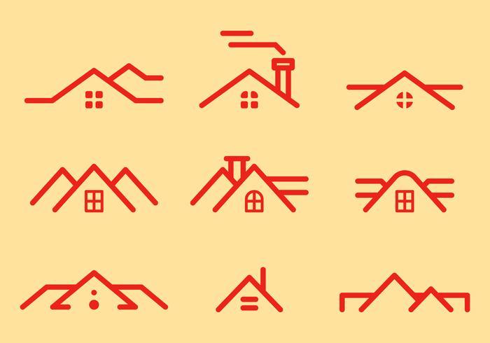 Vecteur libre des toits 1