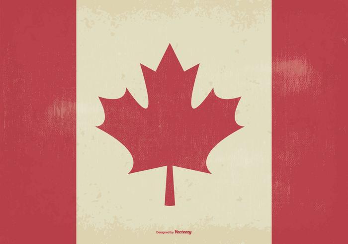 Drapeau du vieux style de Canada vecteur