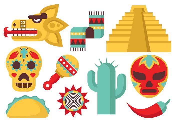 Vecteur libre des icônes du Mexique