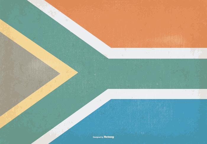 Drapeau Vintage d'Afrique du Sud vecteur