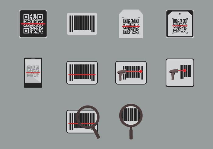 Icône du scanner de codes à barres vecteur