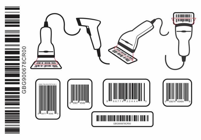 Scanner de codes à barres vecteur