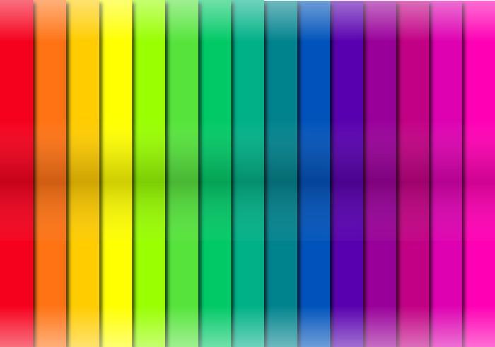 Couches de coupe de ruban de couleur vecteur