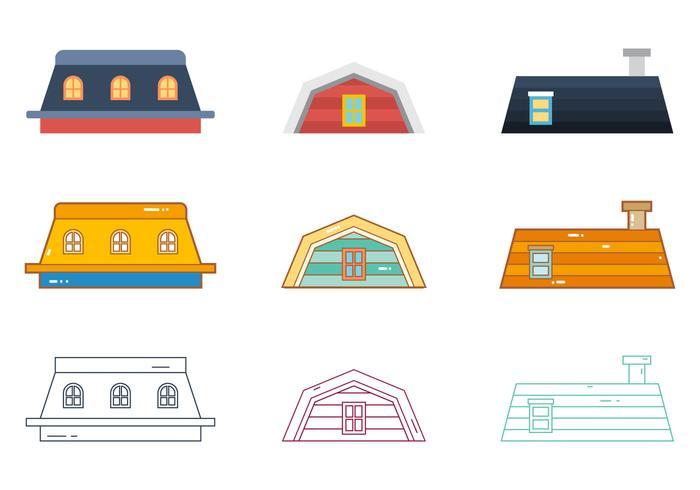 Vecteur libre des toits 4