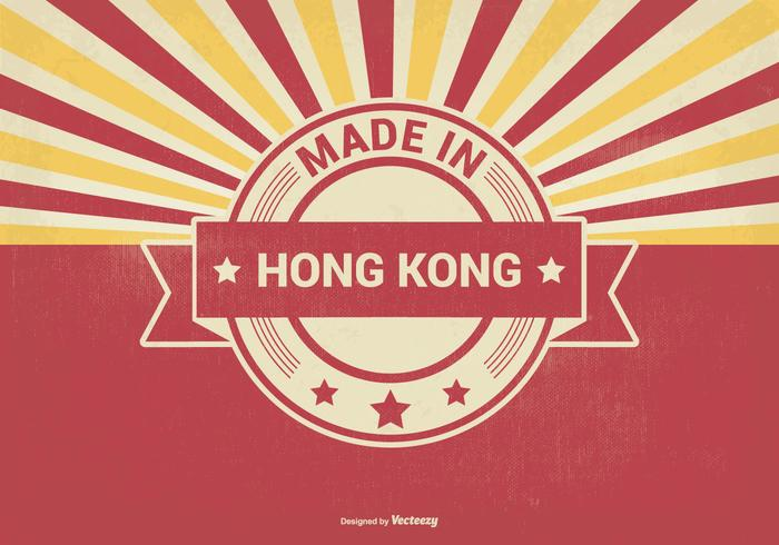 Fabriqué à l'illustration de Hong Kong vecteur