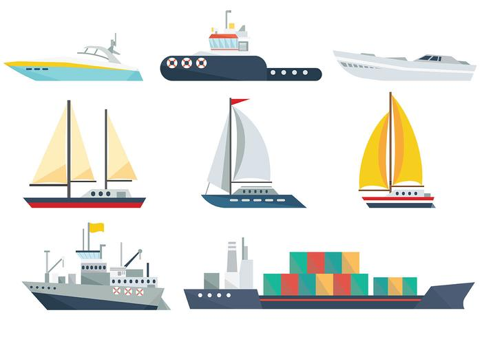 Vecteur libre d'icônes de navire