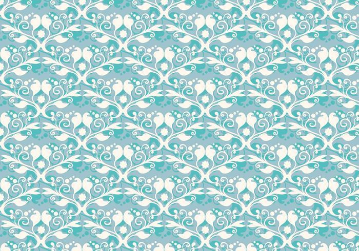 Free Blue Blue Flourish Pattern vecteur