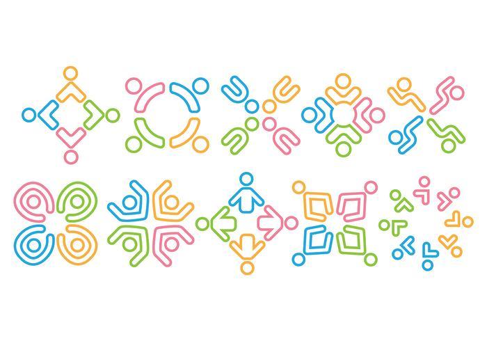 Travailler ensemble Logos vectoriels vecteur