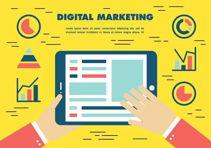 Vecteur de marketing numérique gratuit