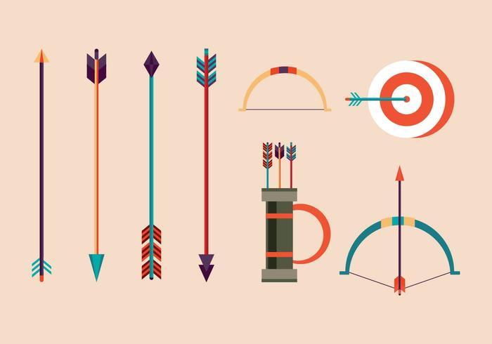 Illustrations de vecteur de tir à l'arc gratuit