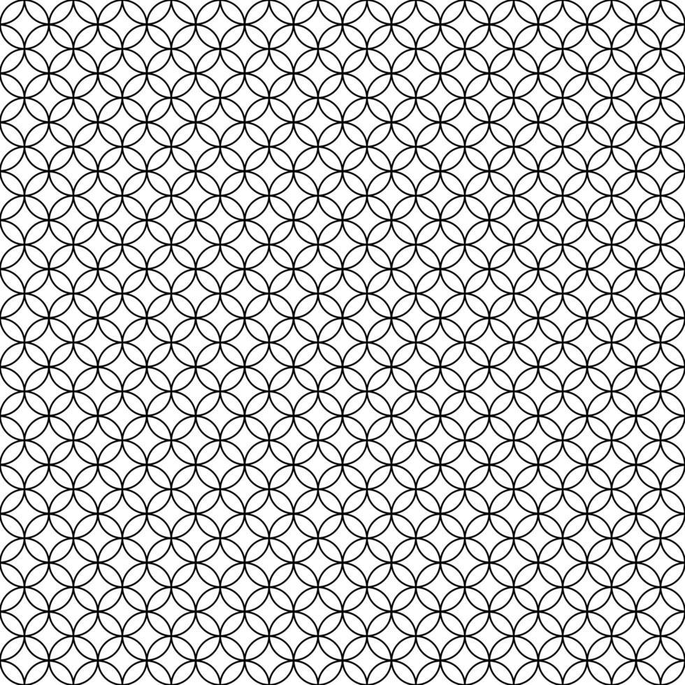motif de cercles géométriques sans soudure vecteur