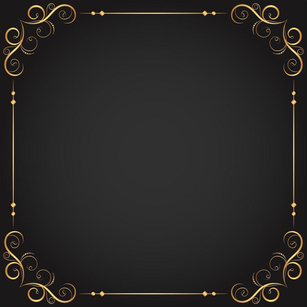or s'épanouit et cadre de bordure décorative vecteur