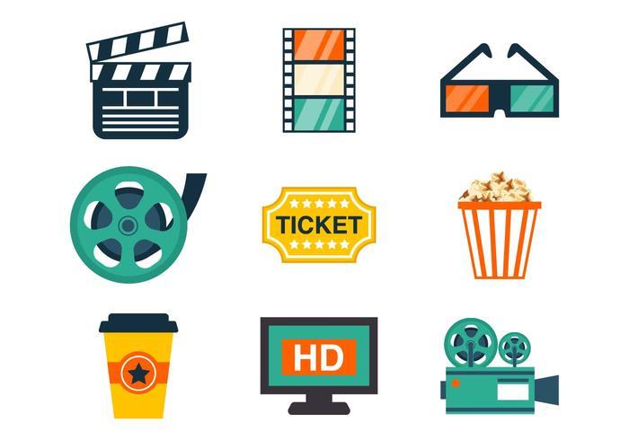 Vecteur d'icônes de cinéma gratuit