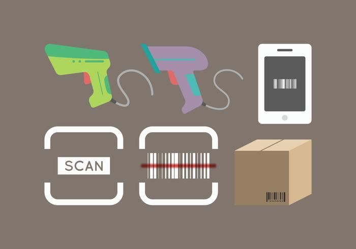 Vecteur de scanner de codes à barres gratuit 2