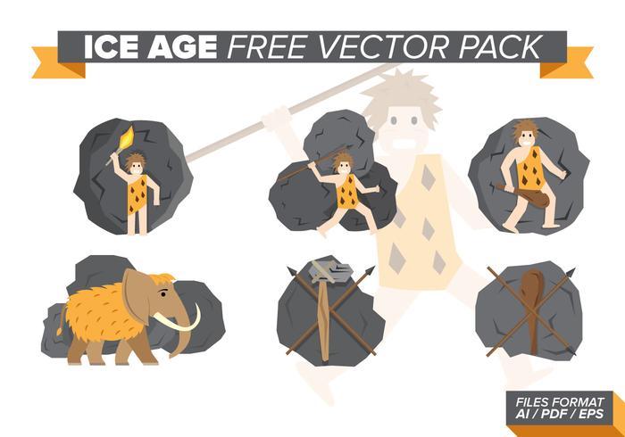 Pack vecteur gratuit pour les années glaciaires
