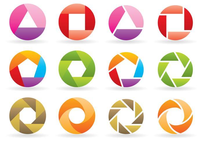 Logos de rotation vecteur