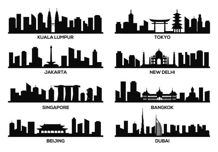 Vecteur de référence célèbre en Asie