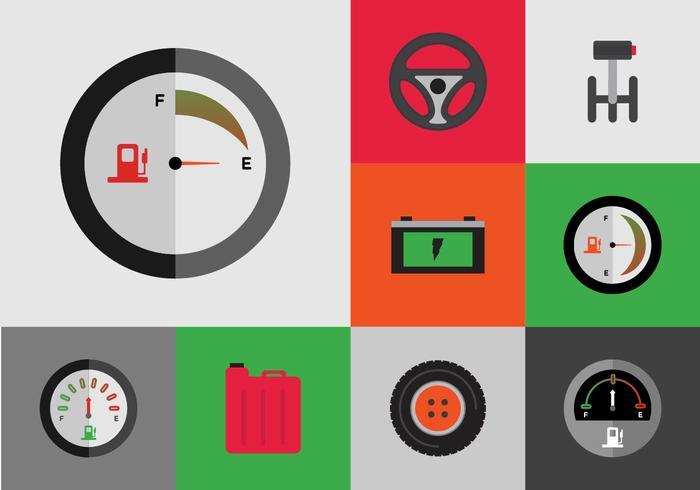 Vecteur gratuit d'icônes de voiture gratuit
