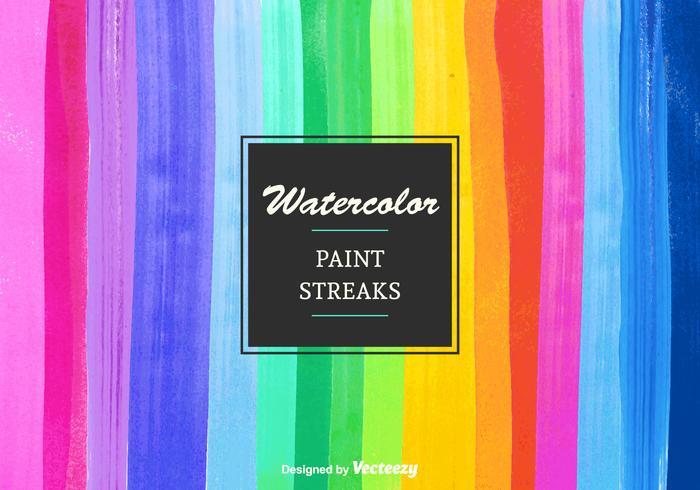 Rayures de peinture aquarelle vectorielle gratuites vecteur