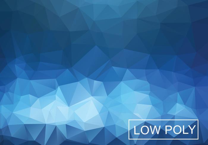 Cobalt géométrique bas vecteur poly vecteur d'illustration