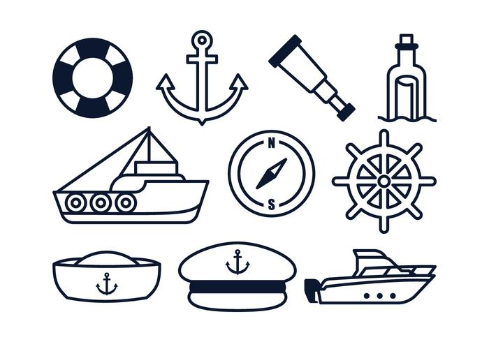 Éléments nautiques gratuits vecteur