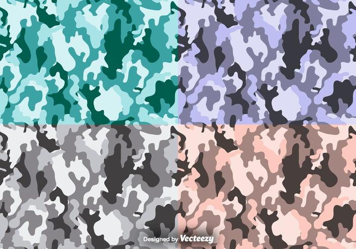 Multicam vector camouflage seamless pattern set