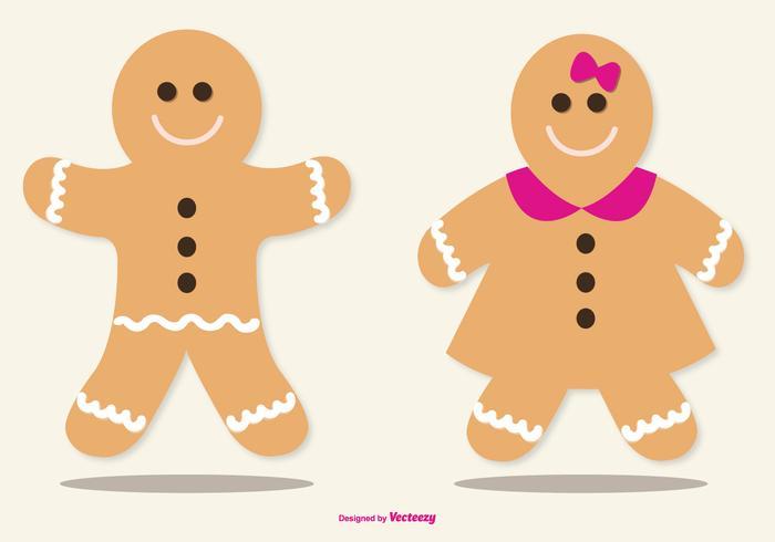 Cute Lebkuchen / Gingerbread Illustrations vecteur